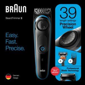 Braun BT3240 Zwart-Blauw - Baardtrimmer