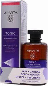 Apivita Hair Loss Lotions150ml +Men's Tonic Shampoo 250ml Set 2 Pieces