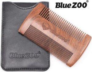 Blue Zoo Baardkam - antistatisch sandelhout - om baardolie of baarbalsem goed te verdelen