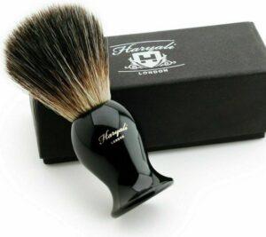 Haryali London Klassiek Zwart Scheerkwast (Shaving Borstel) synthetisch Haar 100% Eco-Friendly Vegan Bristles