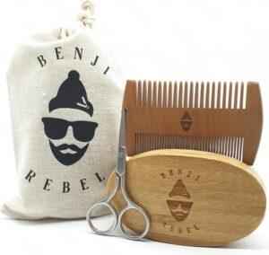 Set - Baardkam – Baardborstel – Baard Verzorging Set – Geschenkset Mannen – Baard – Baardset – Cadeau Man – Baardgroei – Kam – Borstel – Baardverzorging - Baardtrimmer