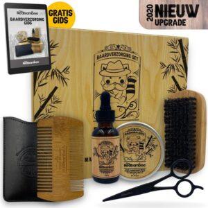 The Red Bamboo® Baard Verzorging Set - Baardgroei Baardset - Cadeau Voor Hem - Man Baard Set - Geschenkset Mannen - Verjaardag Cadeaupakket - Beard Giftset - Grooming Kit - Baardkit