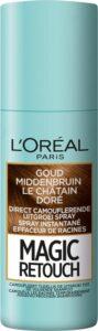 L'Oréal Paris Magic Retouch Goud Middenbruin - Camouflerende Uitgroei Spray 75ml