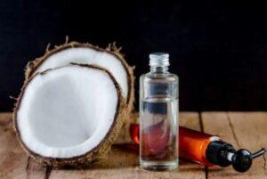 scheren met kokosolie