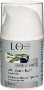 Biologische Aftershavebalsem voor mannen met natuurlijke ingrediënten , droge en gevoelige huid, verzacht irritatie en beschadigingen, na het scheren, met karite en olijfolie Eolab, 50 ml
