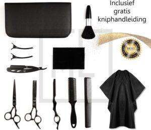 MyLife 11 Delige Professionele kappersschaar set Black Edition