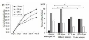 carnitine haargroei studie grafieken