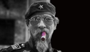 nicotine vlekkerige baard