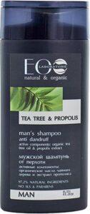 Anti-roosshampoo voor mannen, biologisch, natuurlijk met groene thee en propolies, tegen roos, rustige hoofdhuid, Russisch shampoo 250ml