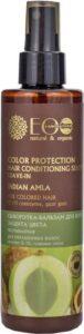 Biologische haar spray voor kleur bescherming, zonder afspoelen, haarserum met Q10, natuurlijke ingrediënten Eolab, 200 ml