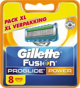 Gillette Fusion ProGlide Power Scheermesjes Navulling - 8 stuks