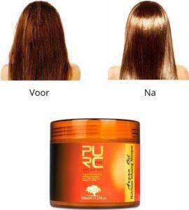 Haarmasker arganolie 450ml - 100% biologisch - natuurlijk - organisch - haarmasker droog haar - beschadigd haar - serum haarverzorging - groot formaat