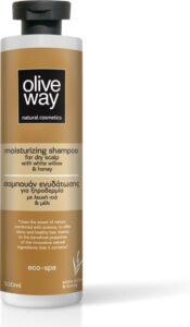 Oliveway natuurlijke hydraterende shampoo tegen droge hoofdhuid met biologische olijfolie - 500 ml