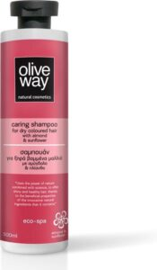 Oliveway natuurlijke shampoo voor droog gekleurd haar met biologische olijfolie, amandel en zonnebloem - 500ml
