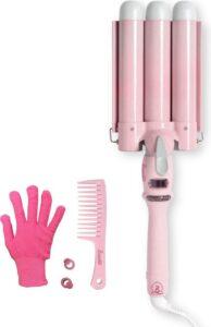 Bombé Waver - Wafeltang - Golvenkrultang - 25mm Baby Pink