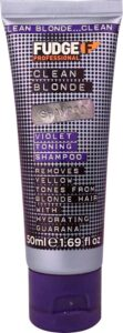 Fudge Clean Blonde Violet Shampoo - 50 ml